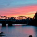 犬山橋付近で見た綺麗な夕焼け - 3