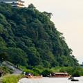 写真: 木曽川沿いから見た鵜飼い No - 4