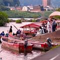 写真: 木曽川沿いから見た鵜飼い No - 10