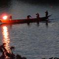 写真: 木曽川沿いから見た鵜飼い No - 33