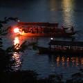 写真: 木曽川沿いから見た鵜飼い No - 37