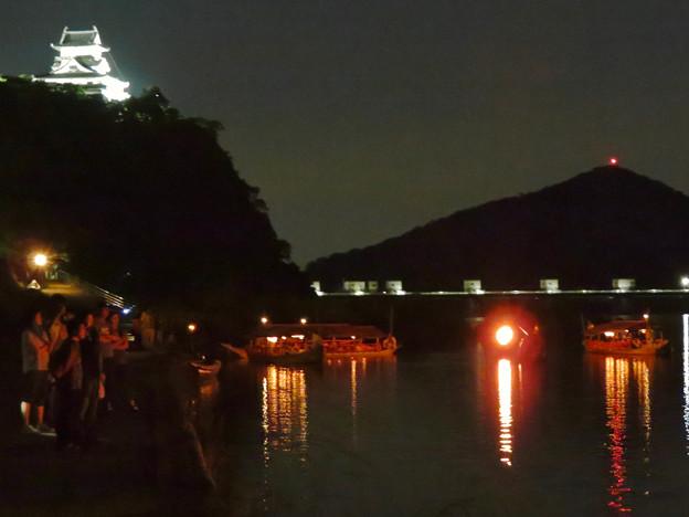 木曽川沿いから見た鵜飼い No - 75