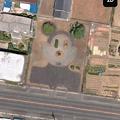 写真: 春日井市花長町の公園を上空から見たら「ミッキーマウス」!? - 2