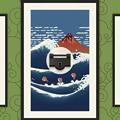 Photos: 浮世絵風のイラストのサーフィン?ゲーム「うきよウェーブ」- 16:ステージ選択