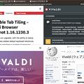 写真: Vivaldi 1.16.1230.3:グリッド表示でも表示幅を変更可能に! - 1(変更前)