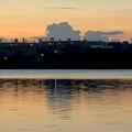 写真: 大池沿いから見た夕焼け - 4