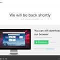 写真: Opera公式ブログにアクセスしたら「We will be back shortly」! - 2