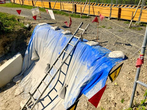 Photos: 桃花台線の旧車両基地進入高架撤去工事(2018年7月14日) - 3