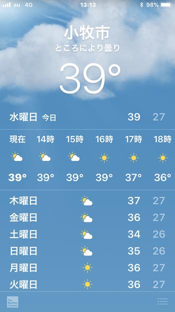 小牧市でも「39℃」を記録!?(2018年7月18日)
