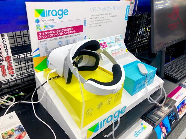 ヨドバシカメラ名古屋松坂屋店に展示されてたLenovoの独立型VRゴーグル「Mirage Solo」 - 1