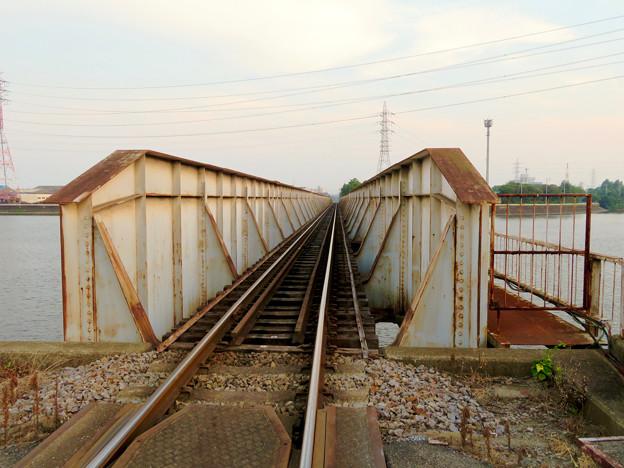 天白川に架かる貨物線(名古屋臨海鉄道?)の橋 - 1