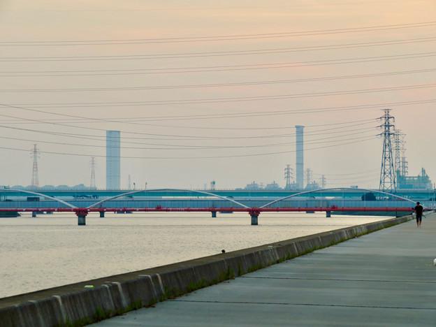 天白川沿いから見た中部電力 新名古屋火力発電所 - 1