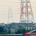 天白川沿いから見た名港トリトン - 2:名港中央大橋