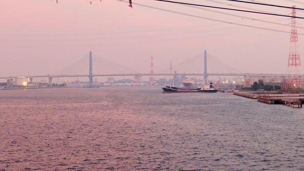天白川沿いから見た名港トリトン - 8:名港東大橋