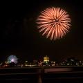 潮見埠頭に架かる橋の上から見た名古屋みなと祭の花火 - 39