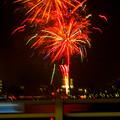 潮見埠頭に架かる橋の上から見た名古屋みなと祭の花火 - 42