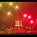 潮見埠頭に架かる橋の上から見た名古屋みなと祭の花火 - 43
