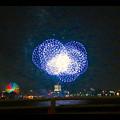 潮見埠頭に架かる橋の上から見た名古屋みなと祭の花火 - 50