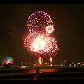 潮見埠頭に架かる橋の上から見た名古屋みなと祭の花火 - 51
