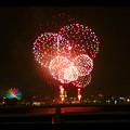 潮見埠頭に架かる橋の上から見た名古屋みなと祭の花火 - 52