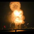潮見埠頭に架かる橋の上から見た名古屋みなと祭の花火 - 59