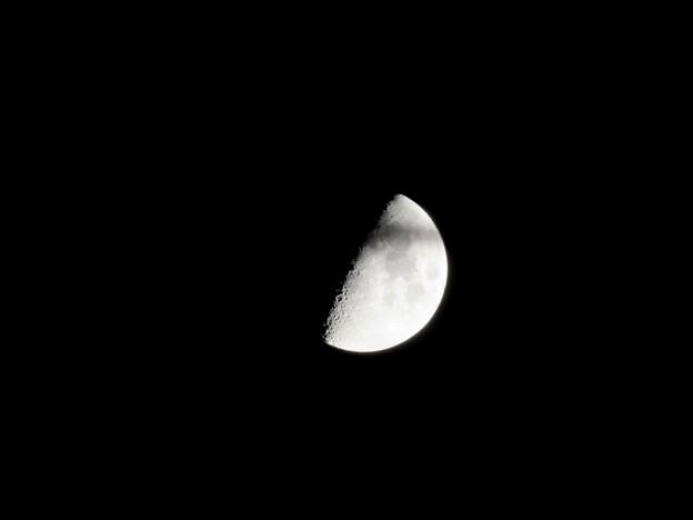 SX730HSで撮影した半月(2018年7月20日) - 1