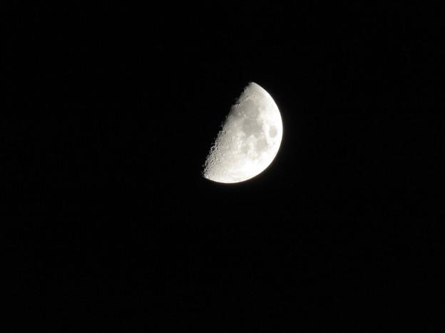 SX730HSで撮影した半月(2018年7月20日) - 2