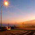 写真: SX730HSで撮影した車のライトの残像(花火モードを使用) - 1