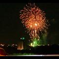 国道19号沿いから見た春日井市民納涼まつり(2018年)の花火 - 22:フィナーレ