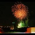 国道19号沿いから見た春日井市民納涼まつり(2018年)の花火 - 23:フィナーレ