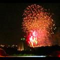 国道19号沿いから見た春日井市民納涼まつり(2018年)の花火 - 30:フィナーレ