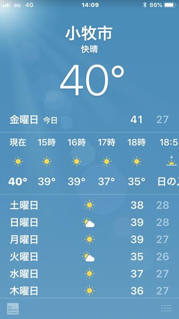 小牧市でも40℃を記録!?