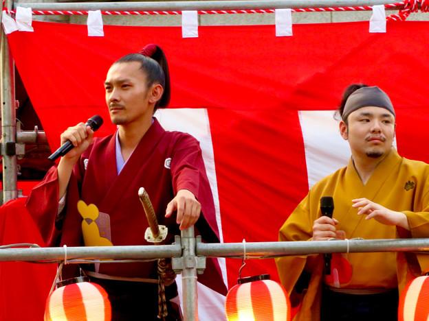 SAKAE納涼盆踊り大会 2018 No - 9:舞台の上にいた名古屋おもてなし武将隊の人たち