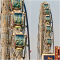 歩行者天国となっていた錦通から見たサンシャインサカエの観覧車「スカイボート」 - 4