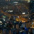 写真: スカイプロムナードから見た景色 - 15:名古屋高速の明道町JCT