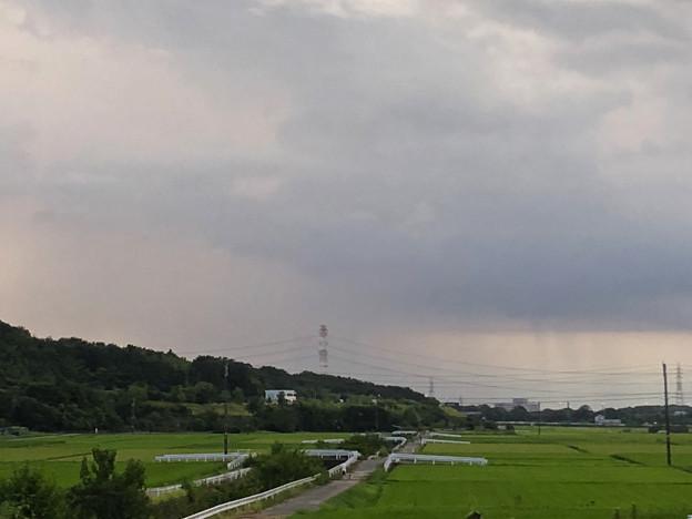 入道雲の下、豪雨が降ってたと思われる辺り - 2