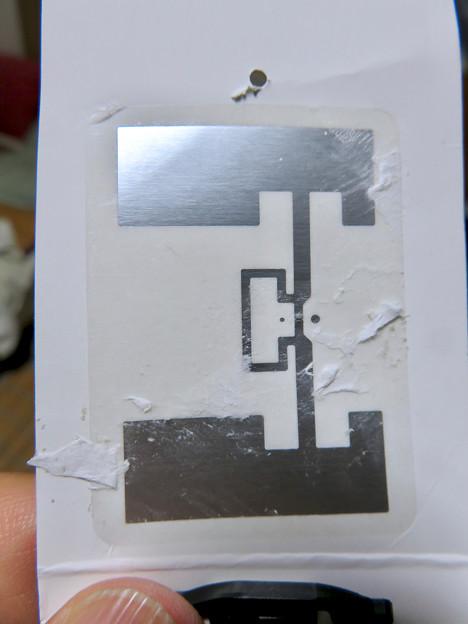 ユニクロのスポーツソックスの「RFID」タグ - 3