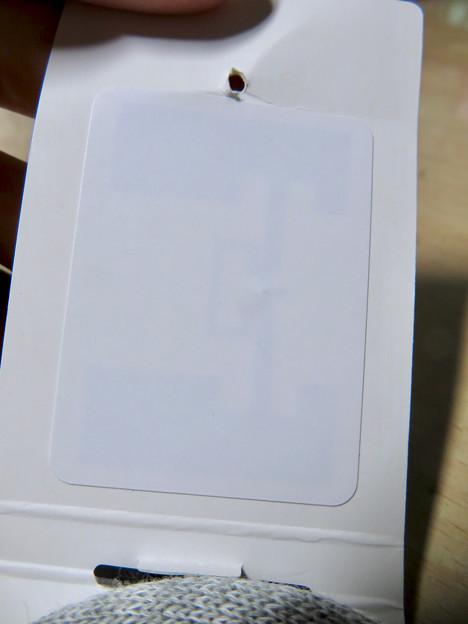 ユニクロのスポーツソックスの「RFID」タグ - 4