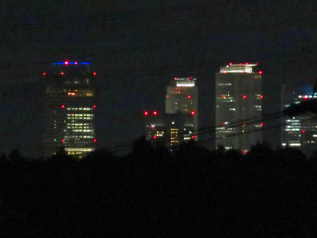 空気が澄んでてくっきり見えた夜の名駅ビル群 - 3