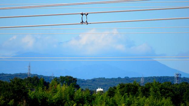 落合公園 水の塔から見た景色 - 3:雲がかかってた御嶽山