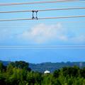 写真: 落合公園 水の塔から見た景色 - 3:雲がかかってた御嶽山
