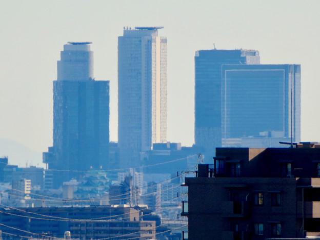 落合公園 水の塔から見た景色 - 19:名駅ビル群と名古屋城