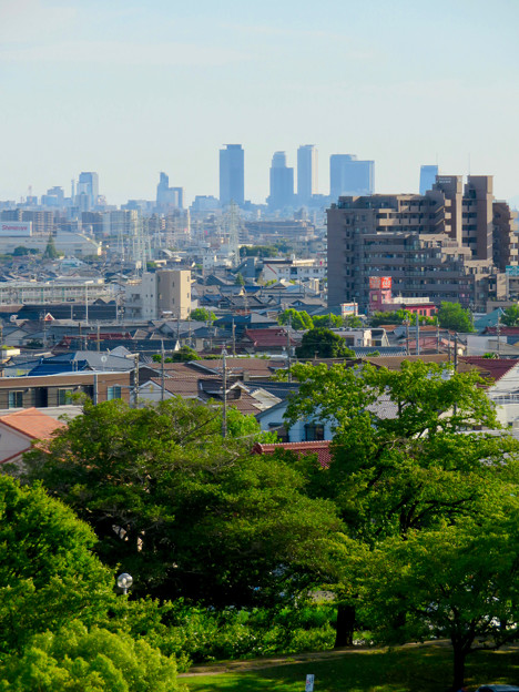 落合公園 水の塔から見た景色 - 22:名駅ビル群