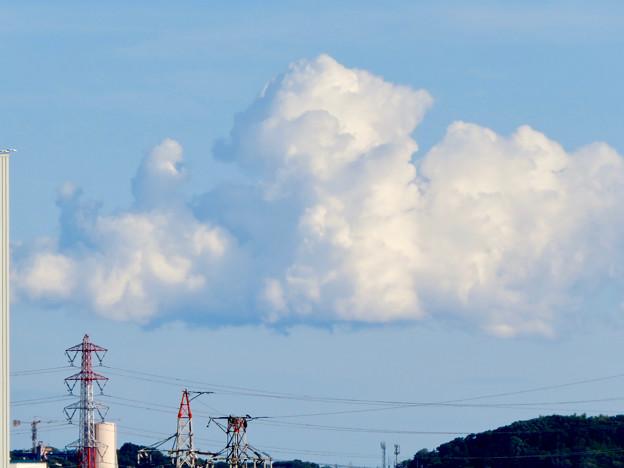 落合公園 水の塔から見た景色 - 24:夏らしい雲