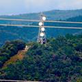 写真: 落合公園 水の塔から見た景色 - 25:パラボラアンテナのある鉄塔