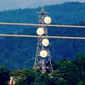 写真: 落合公園 水の塔から見た景色 - 26:パラボラアンテナのある鉄塔