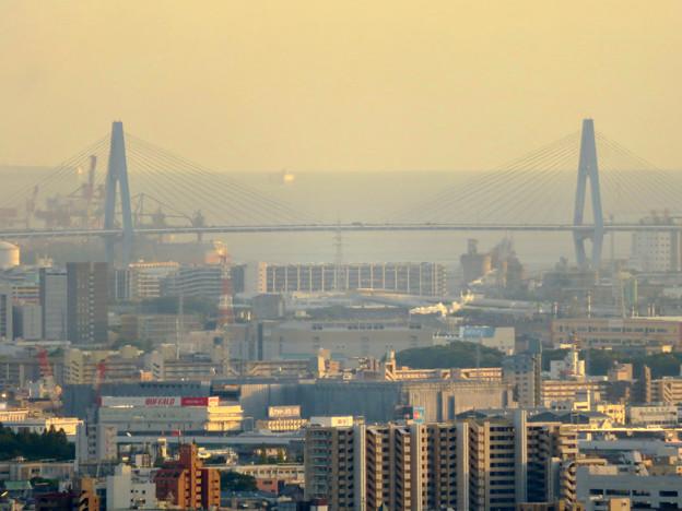 東山スカイタワーから見た景色:名港東大橋
