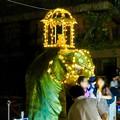 Photos: 東山動植物園ナイトZoo 2018 No - 55:スリランカの「ペラヘラ祭」風の装飾がなされてた象の像