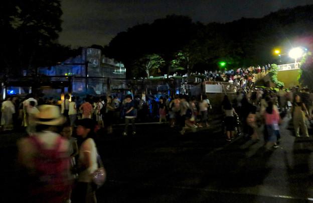 東山動植物園ナイトZoo 2018 No - 69:プロジェクションマッピングを見ようと集まってた沢山の人たち