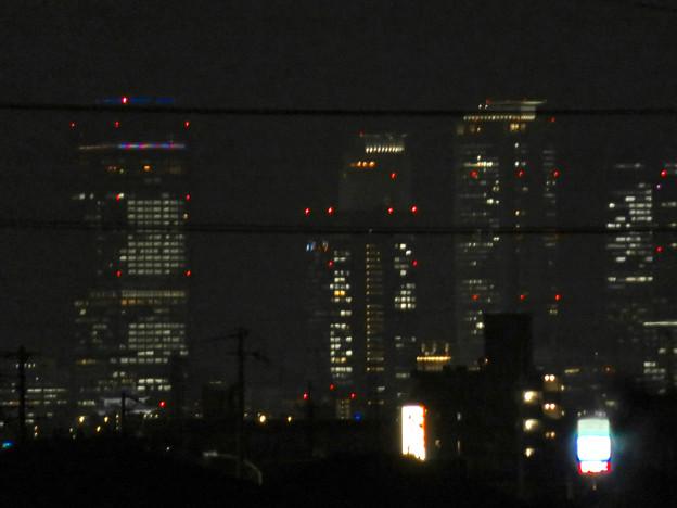 大池緑地から見た夜の名駅ビル群 - 1